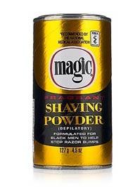 Magic Fragrant Shaving Powder - Gold/Black Can