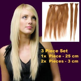 Quick 2 Fix 3 Pcs Clip-In Straight