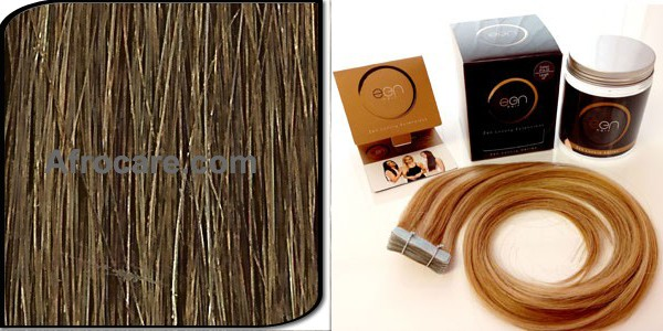 Zen Luxury, Pretaped Hair extensions 22 inch Colour #8