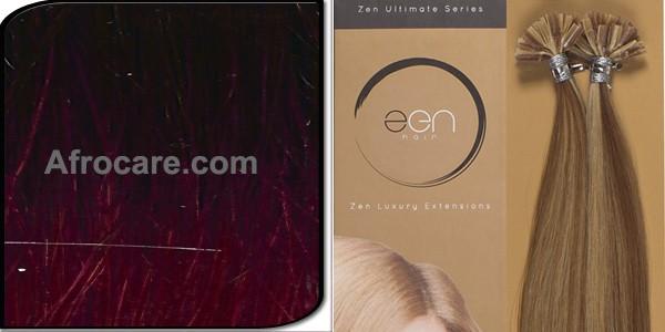 Zen Ultimate U-Tip Hair Extensions 14 inch Colour T400-Burg