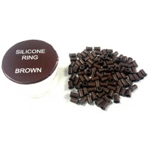 Zen Hair Extension  Silicon Lined Microtubes-Brown x 100  (Linkies)