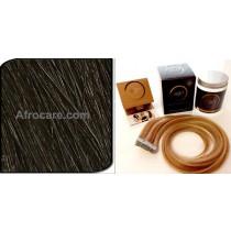 Zen Luxury, Pretaped Hair extensions 18 inch Colour #1B
