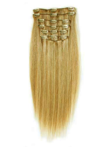 100% Human Hair Clip In Hair Extensions - 12 pcs Full Set