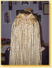 Step by step guide to applying synthetic dreadlock hair extensions step 15 pmusecretfo Gallery