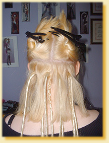 Twist The Remaining Loose Hair Down And Clip Up Above Where You Are Working Repeat For Other Side